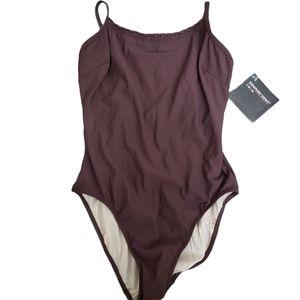 Newport Swim Brown One Piece Swimsuit Strappy 8